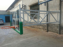 Lifetime aluminium frame glass basketball boards, tempered basketball glass backboard with PU padding.