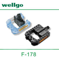 "Wellgo F178 Plastic Bicycle Pedal for 12-20"" Folding bike use pedal"
