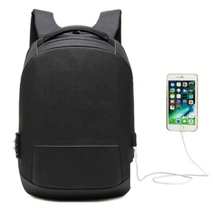 Waterproof Nylon Reflecting Security Anti theft Usb Laptop Backpack Travelling 15.6 Laptop Back Pack Bag