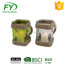 New design cheap wooden vietnam glass candle holder hanging lamps and lanterns