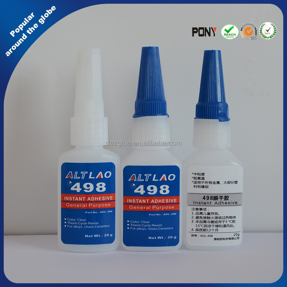 498 Clear Cyanoacrylate Adhesive 1 OZ Instant Super Bonder General purpose
