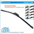 European type multifunctional soft wiper blade for most cars