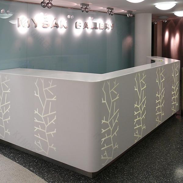Cash Counter Table Design Illuminated Bars Modern Salon