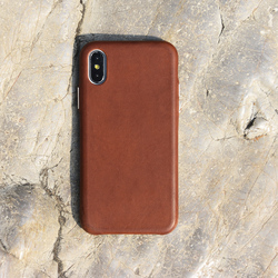 Premium vegetable tanning metal button leather case,for iphone x case luxury