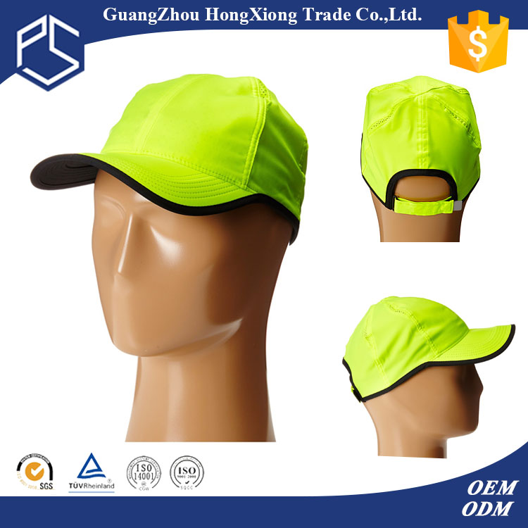 Wholesale Alibaba cheap custom top selling reflective running cap velcro patch hat
