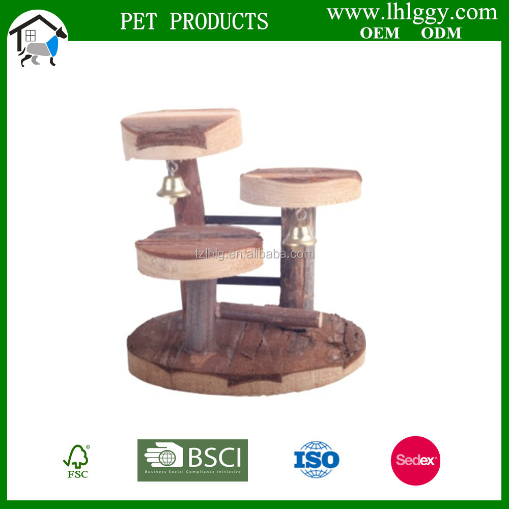 wooden Natural Living climbing frame, 14 x 14 cm small animal toy -hamster toy