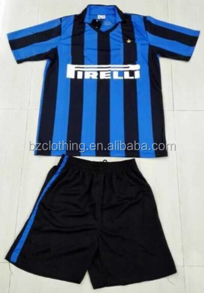 Inter Milan 2015-2016 Good Quality Soccer Jerseys and Shorts