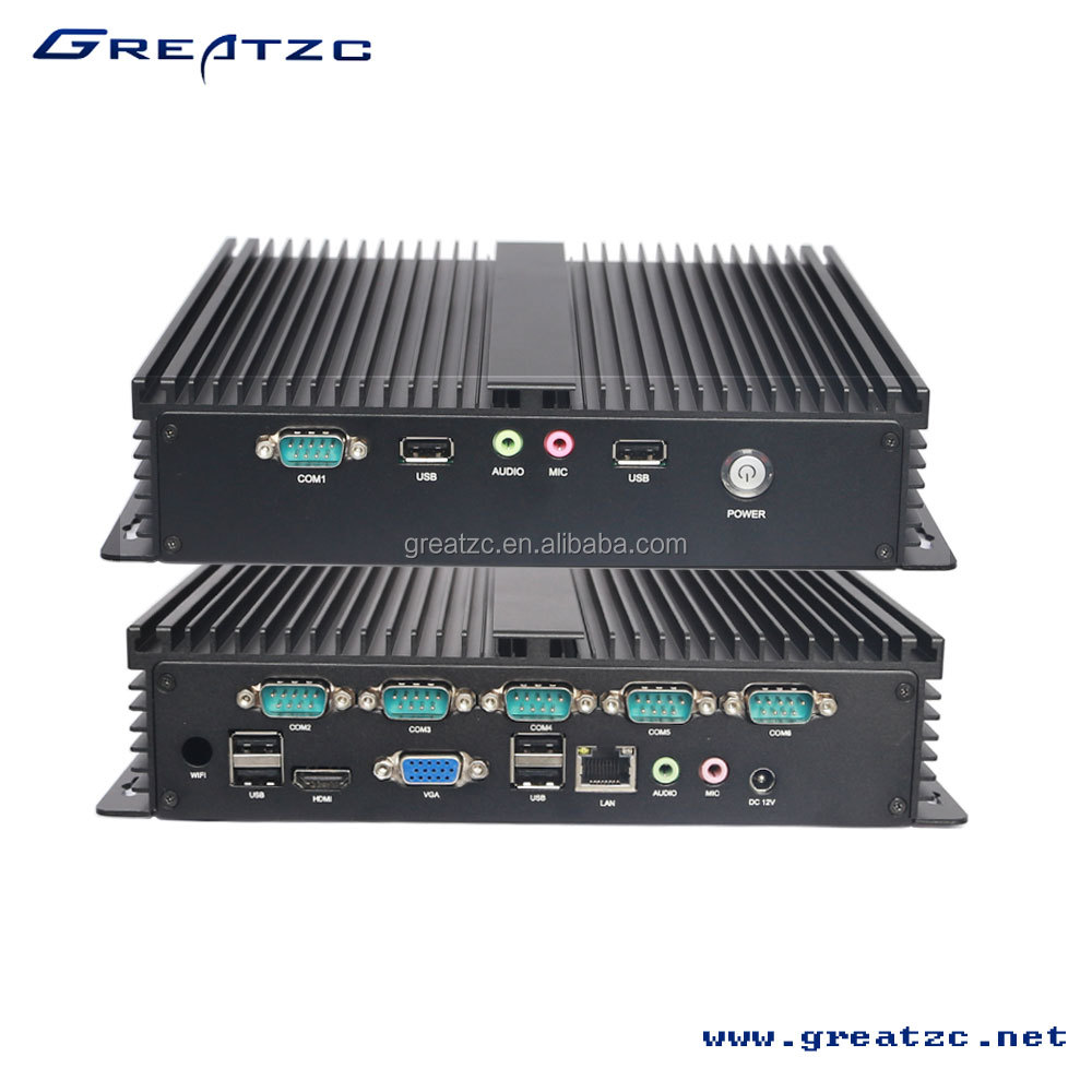 Industrial Computer Onboard 1037U CPU With Full aluminium alloy shell dustproof durable resist compression Mini Computer
