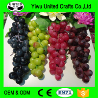 2016 Popular Bunches artificial grapes plastic fake fruit food for home decoration