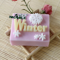 Silicone rubber lovely winter soap mould toy soap moulds H0006