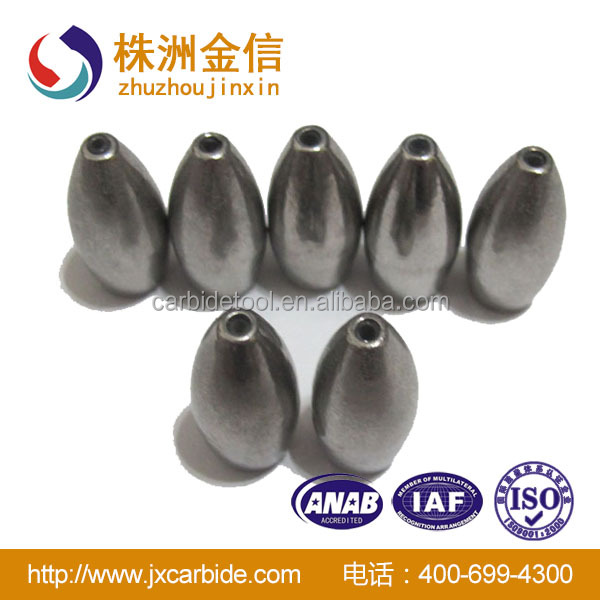 Factory direct cemented carbide fishing sinkers tungsten for Cheap tungsten fishing weights