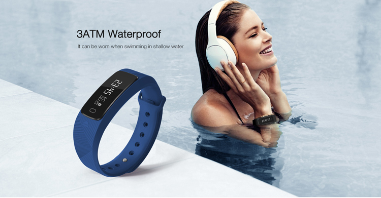 SMAWATCH bluetooth smart bracelet pedometer usb heart rate monitor fitness tracker B2