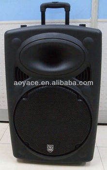 active speaker portable amplifier power box with handle and wheels