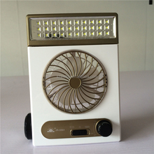 Portable Solar power Mini fan 3 in 1 rechargeable with LED light Tent Lantern