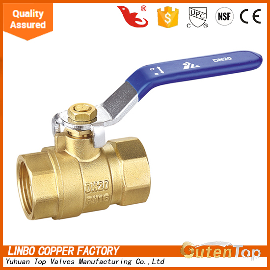 LB-Gutentop 1/2 inch brass ball valve water used pipe valve