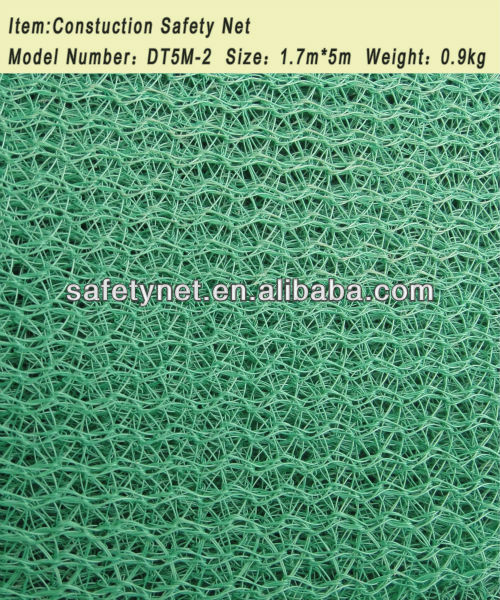 100% virgin HDPE green horizontal construction safety net
