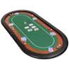 Custom oval foldling poker table top with carry bag