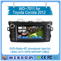 Cheapest Toyota Corolla 2012 multimedia player car dvd player with gps 2 din car radio android touch screen support swc tpms CE