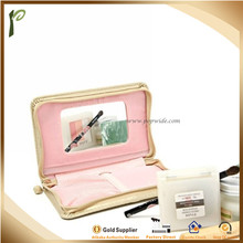 Popwide 2016 Hot Selling Handy PU/leather Cosmetic case with mirror