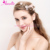 100% Handicraft Wired Floral and Pearl Headband Bridal Hair Accessories Flower Crystal Hairpiece