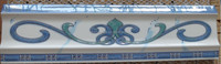 8x30cm Blue Curved Crystal Border Tile in Algeria