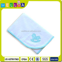 Light blue printed baby blankets