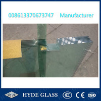 10mm toughened safety glass door with holes and cutouts