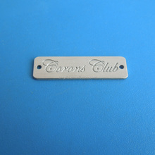 custom silver and gold plated engraved your logo metal name plate for furniture