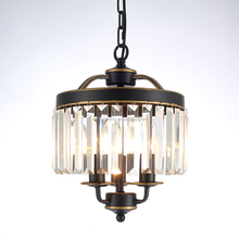 Classic Round clear glass crystal chandelier 3 lampholder bulb italian crystal chandelier