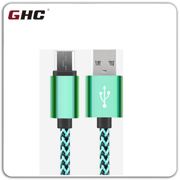 Fabric nylon with spot 5V2A usb cable data Kabel Charging Cord for MacBook Sync Kabel