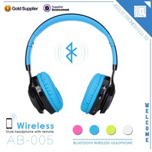 Factory price latest style super bass stereo bluetooth headset for mobile phone