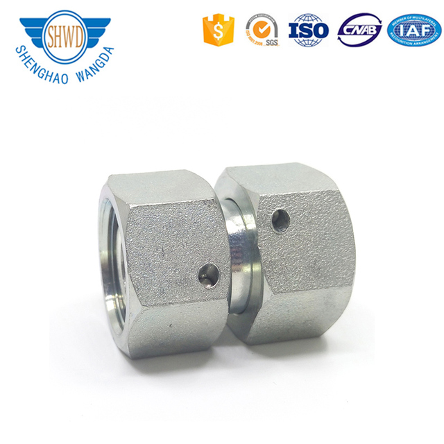 Eaton 3C/3D Hydraulic Pipe Fittings Metric Thread Bite Type Straight Tube Adapters With Swivel Nut S Series