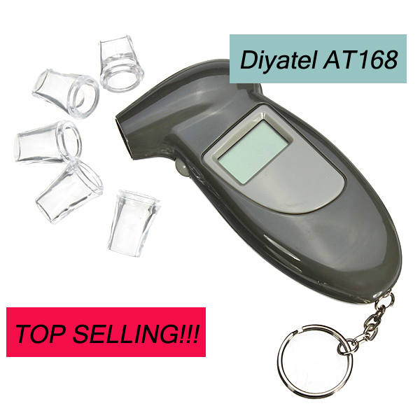 AT168 digital breath alcohol tester key chain/digital breathalyzer alcohol tester/professional alcohol tester