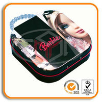 metal cd tin case with plastic handle