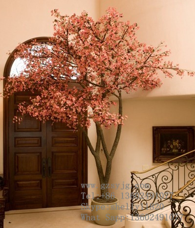 Hot selling indoor artificial cherry blossom trees fake flowers trees bonsai