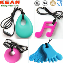 Pop items baby chewable jewelry/ silicone pendant teething online