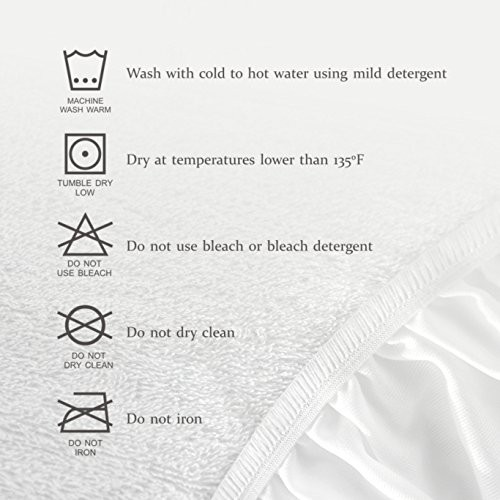 Luxury fitted breathable waterproof brushed cotton mattress protector - Jozy Mattress | Jozy.net