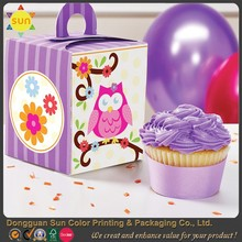 Custom pop clear cup cake food box packaing cake box for wedding
