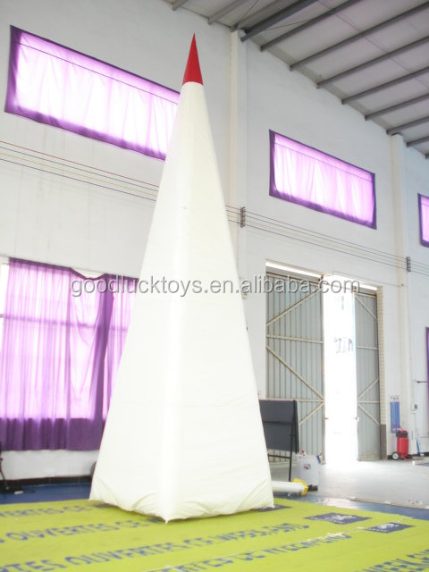 white inflatable pyramid cartoon model, customized shapes advertising inflatable cartoon