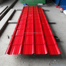 pre-painted/galvanized Corrugated Sheet Metal Roofing sizes