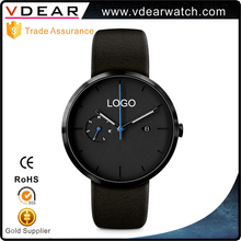 Shenzhen watch factory branded 3 ATM stainless steel minimalist mens watch with custom logo