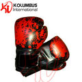 Blood splatter boxing gloves, synthetic leather boxing gloves, training boxing gloves