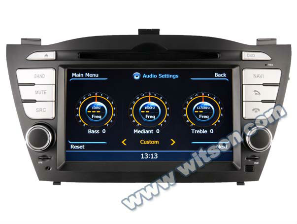 WITSON HYUNDAI TUCSON 2011 car dvd player HD 1080P 1G CPU 512M RAM 3G/ wifi/DVR (Option)