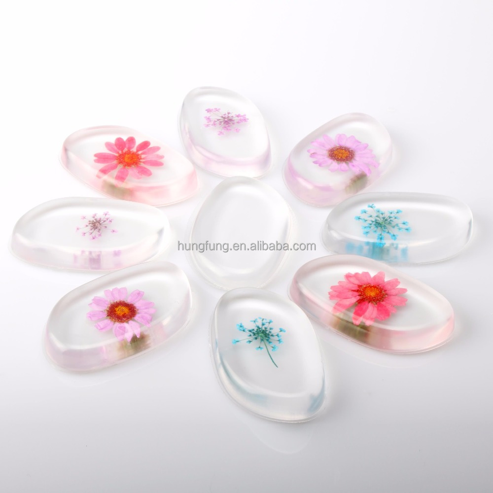 Hot Sale Transparent Clear Silicone flower beauty Sponge