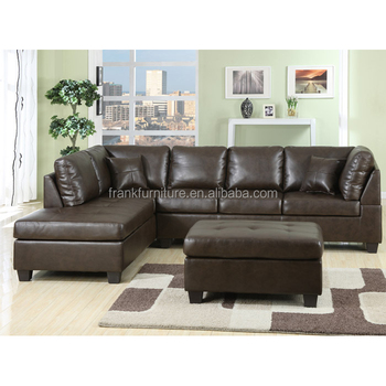 Black Leather High Quality Fashion Kids Sectional Sofa