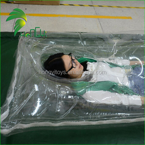 Clear Double Layer PVC Inflatable Mattress , Walking Sleeping Bag , Inflatable Air Sleeping Bags