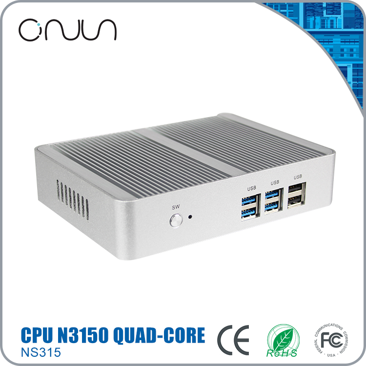 Free shipping low price mini computer case celeron N3150 qual core thin client desktop