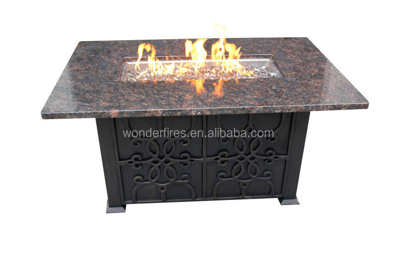 rechteck granit outdoor gas feuerstelle tisch feuerstelle. Black Bedroom Furniture Sets. Home Design Ideas