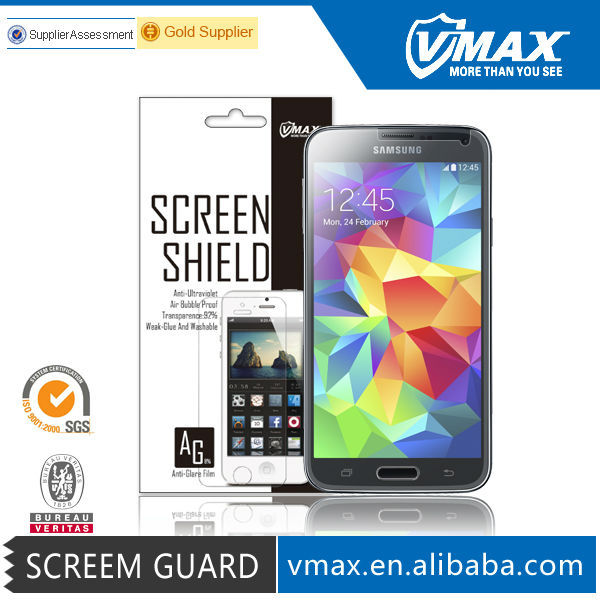 Brand Vmax Anti-Reflection Anti UV Glare Cell Phone/Mobile Phone LCD Monitor Clear screen protector for Samsung galaxy s5 i9600