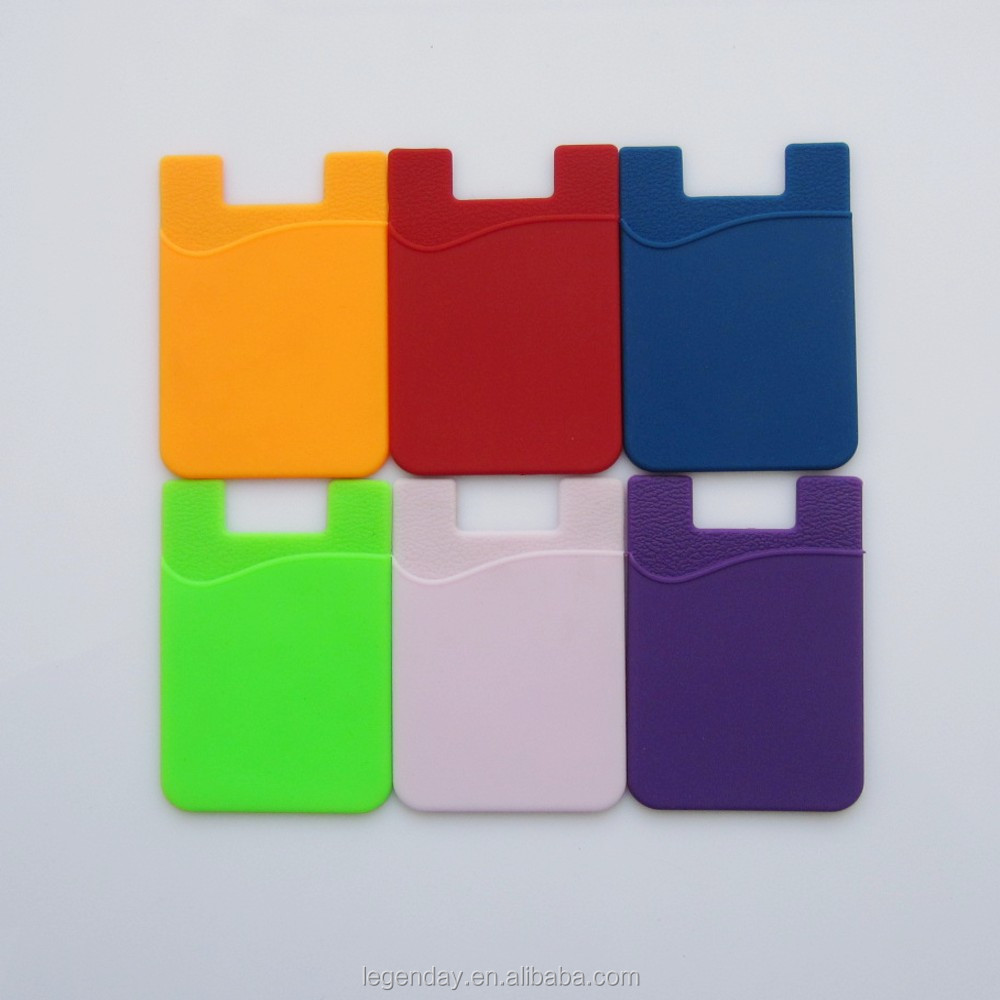 Wholesale price 3m sticker silicone smart wallet,silicone card holder ,silicone phone pouch